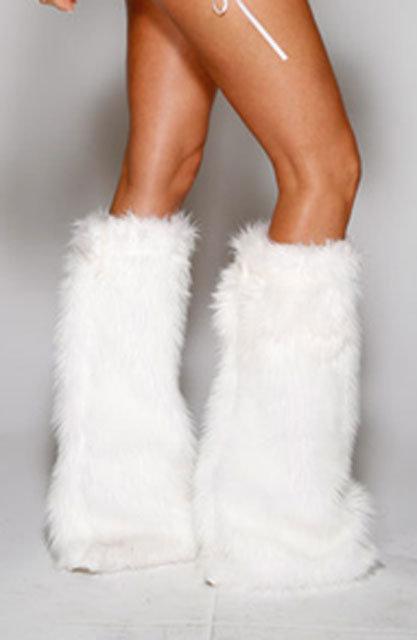 FURRY LEG WARMERS