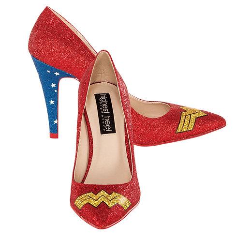 Wonder Woman Glitter Pump