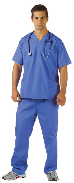 Men's Blue Hospital Scrubs