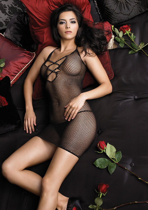 MINI NET DRESS