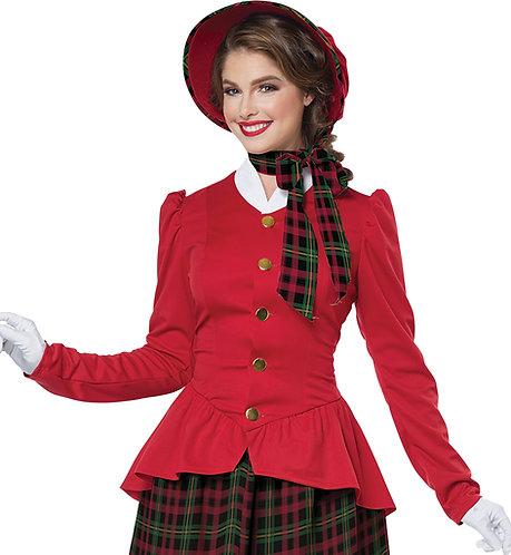 Women's Holiday Caroler Costume