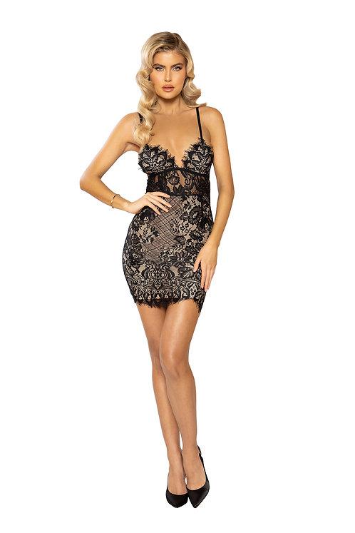 Underlined Eyelash Lace Dress