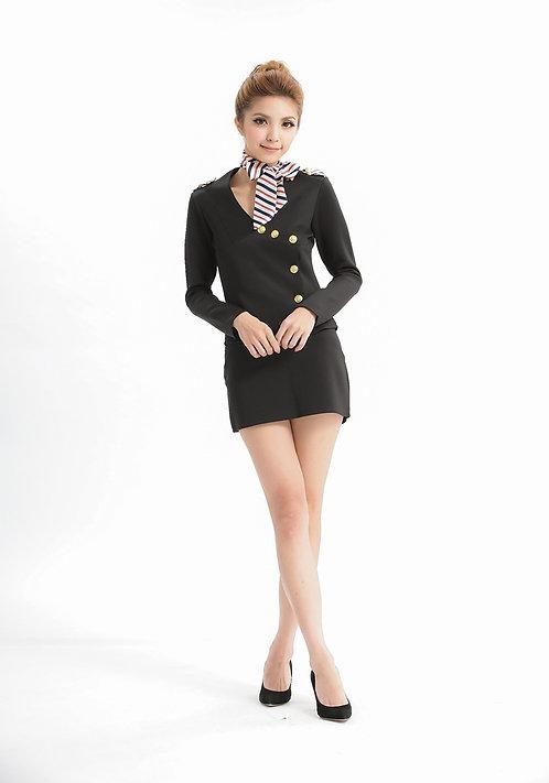 Cute And Sexy, Black Opaque Chocker Clubwear Dress
