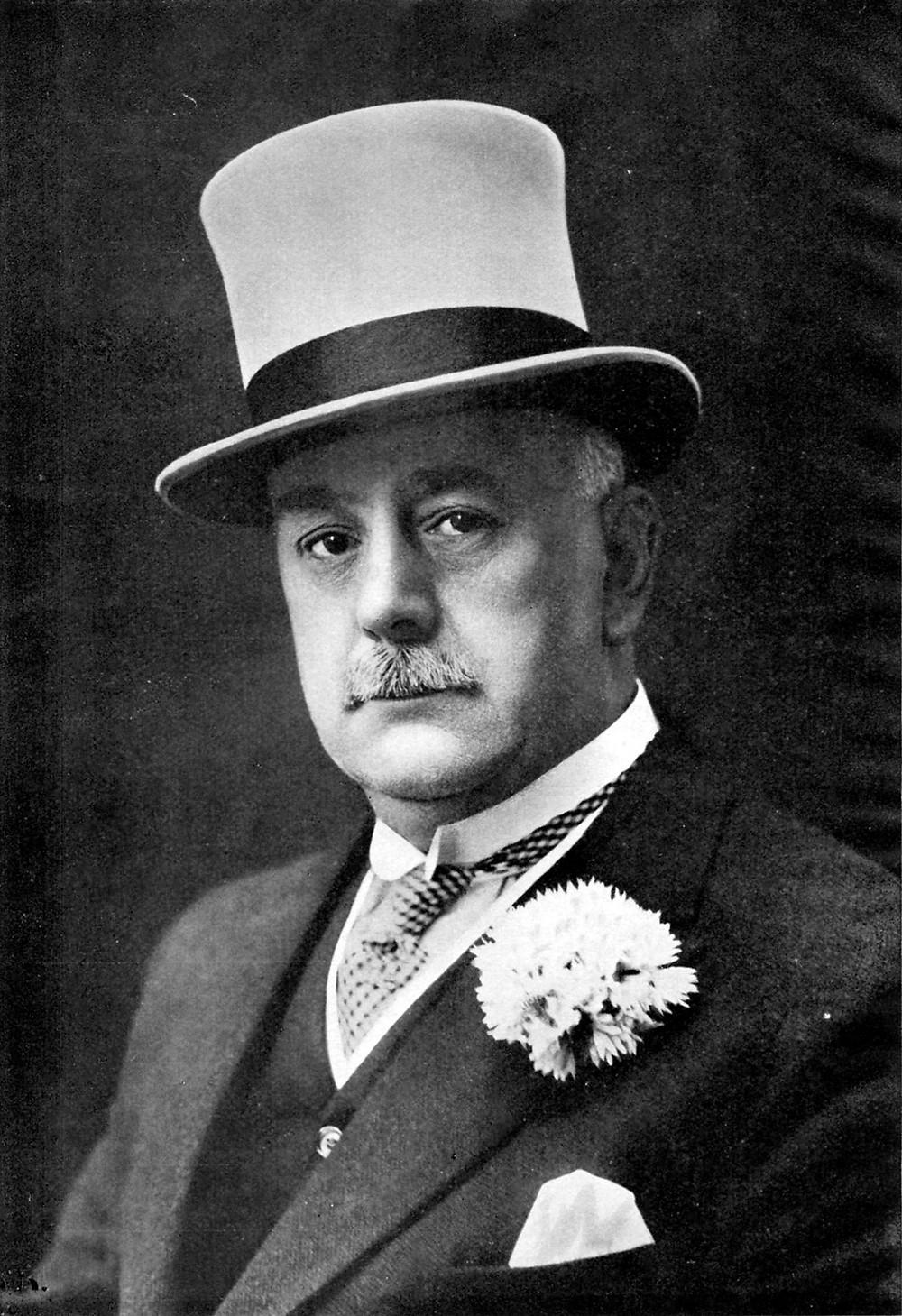 Bertram Mills (1923) as he appeared in Bertram Mills Circus souvenir program.