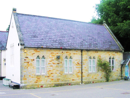 1849: Staplefield School construction funded by Cuckfield residents and opened with Plum Pudding!