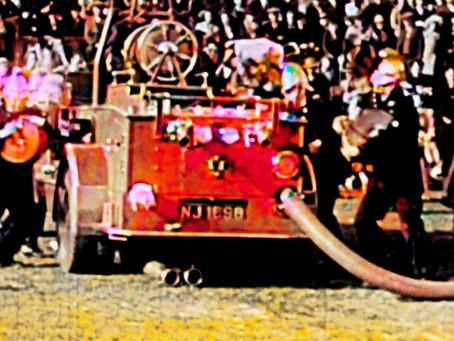 1939: Cuckfield UDC Fire Brigade in Action at Victoria Park
