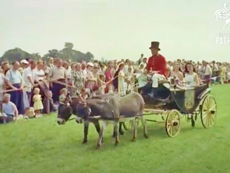 1957: Windmill Girls and Donkeys at Whiteman's Green - The Cuckfield Donkey Derby