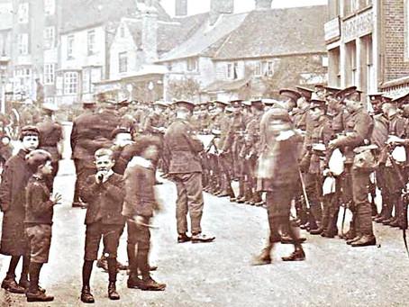 Cuckfield training for 1914 War in France