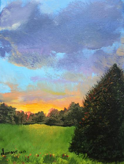 Sunset Meadow - Coucher de soleil sur la plaine