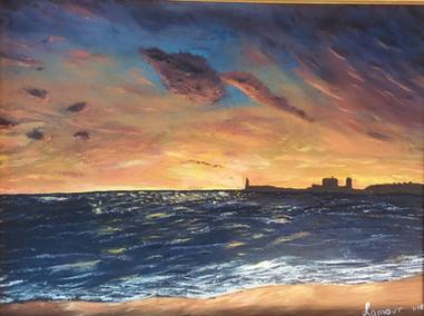 Sunset on a Beach - Coucher de soleil sur la plage