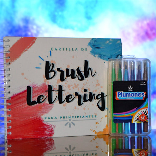 Kit lettering   Cartilla + 12 plumones