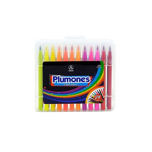 Plumones Punta Pincel Artisan X 24