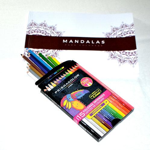 Kit Mandala y Colores Prismacolor