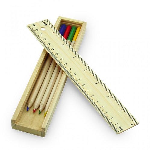 Kit Escolar de Colores Madera No 4