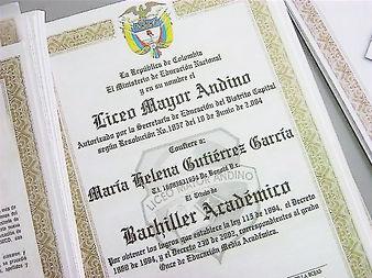 Diploma en Papel de Seguridad