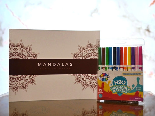 Kit Mandala y Marcadores