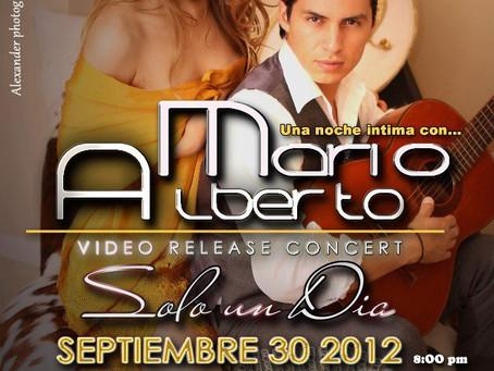 """Mario Alberto lanzo video""""Solo Un Dia"""" con Ruth Diaz y en la portada de Vision Latina Maga"""