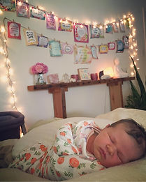 Newborn baby and birth altar