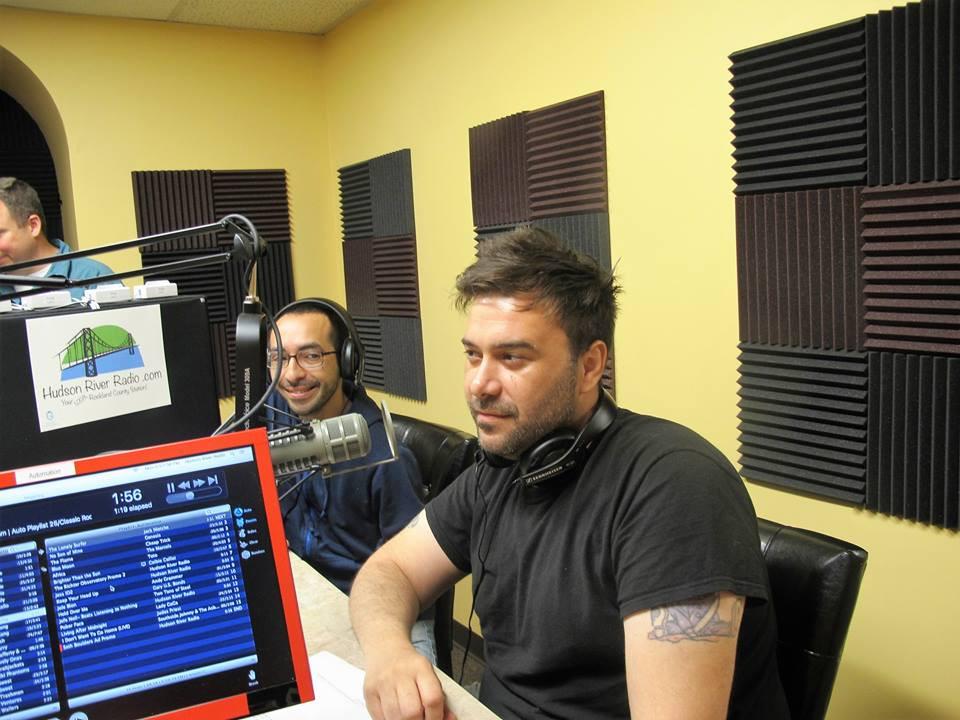 John Deizard and Carlos Navarro at Hudson River Radio