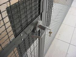 ADA Lever Lock on Partition Door
