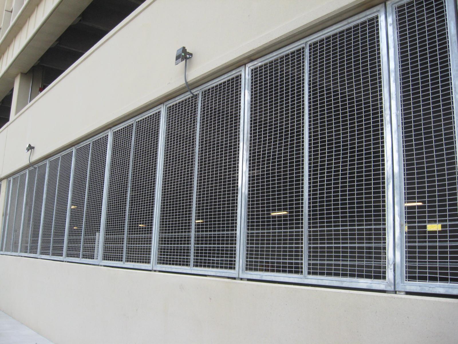 Aluminum Mesh Garage Security Panels