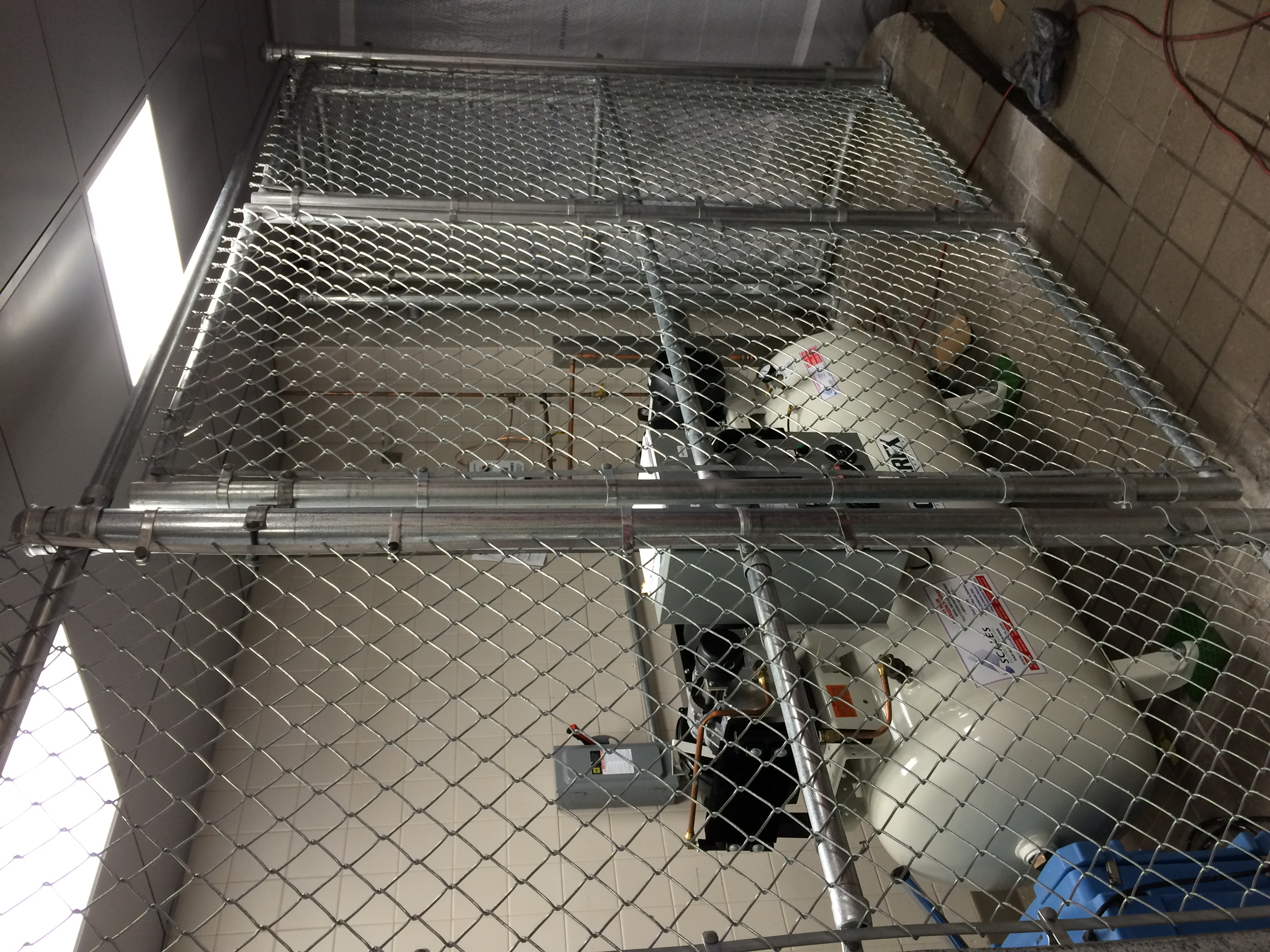 Chainlink Equipment Enclosure