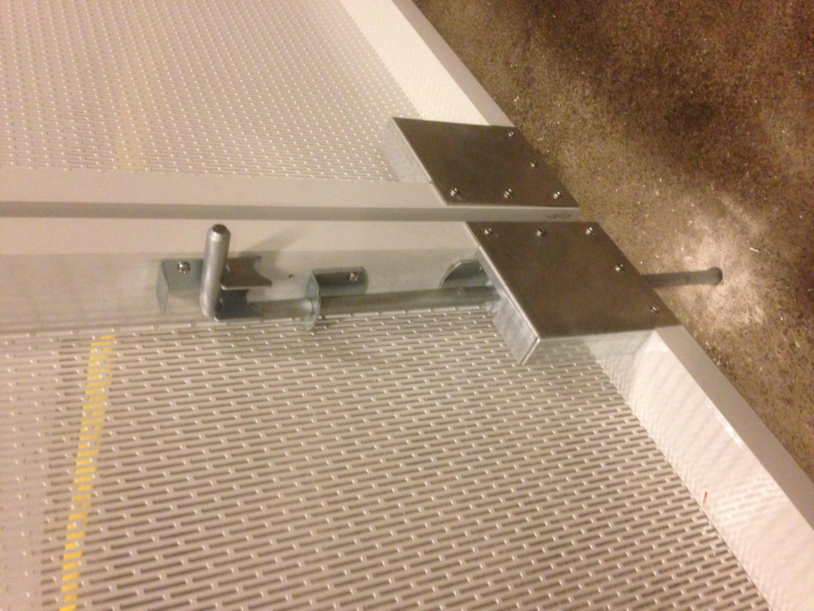 Custom Perforated Alum. Fence Gate