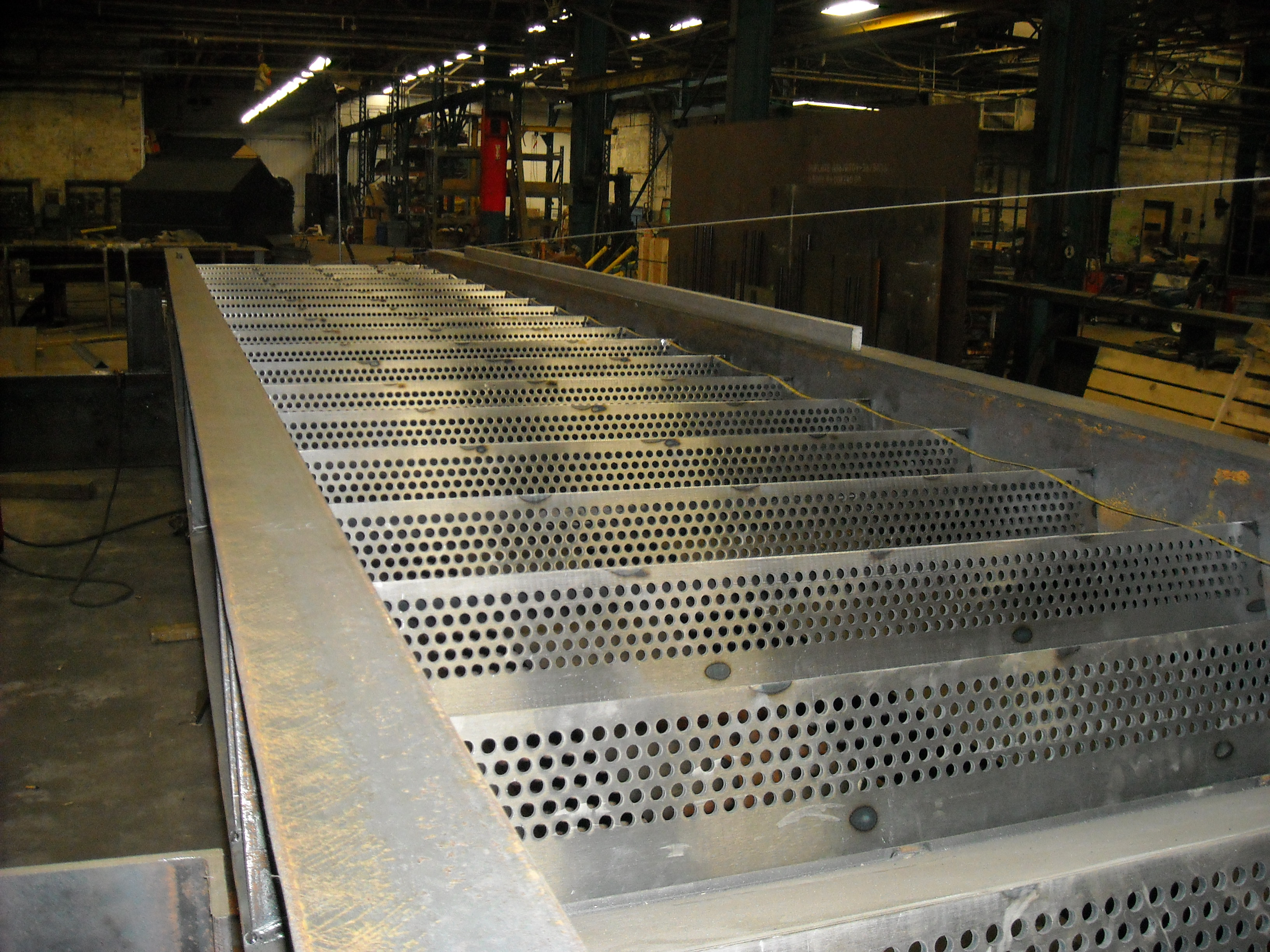 Perforated Steel Stair Riser Panels