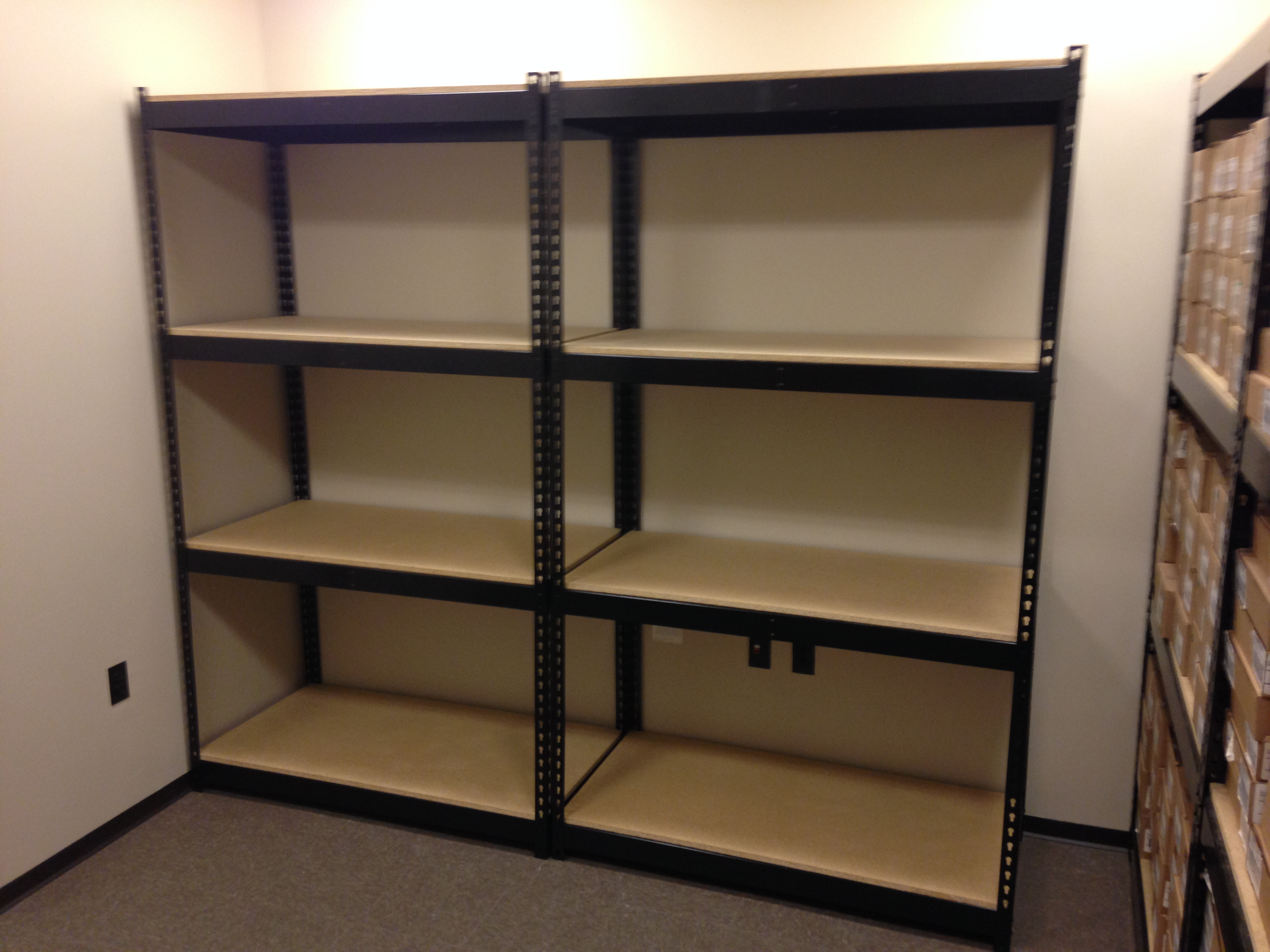 Steel and Wood Shelving
