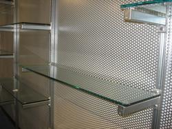 Perforated Steel Display Background
