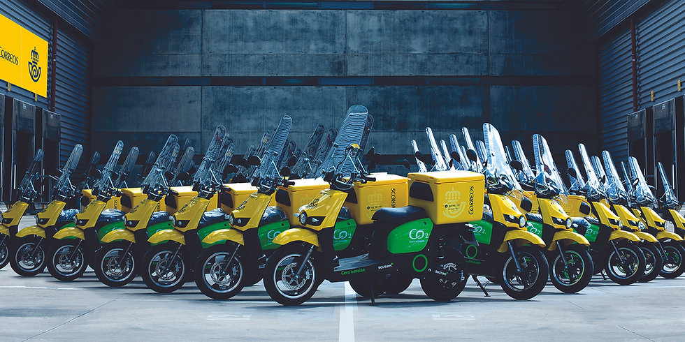 Fleet of Silence e-moto scooters for the Spanish National Postal Service