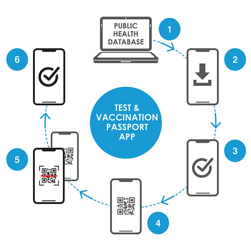 Test and Vaccination Passport App Diagra