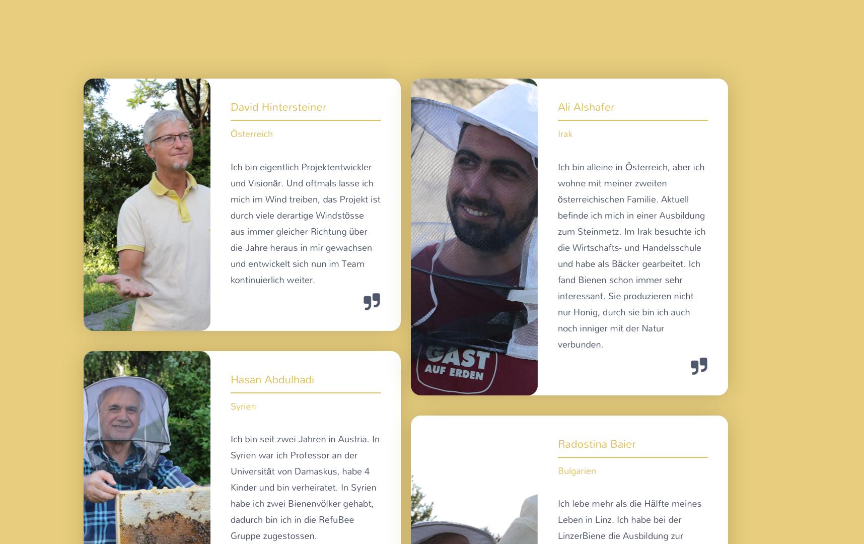 Webseite Refubee 2020