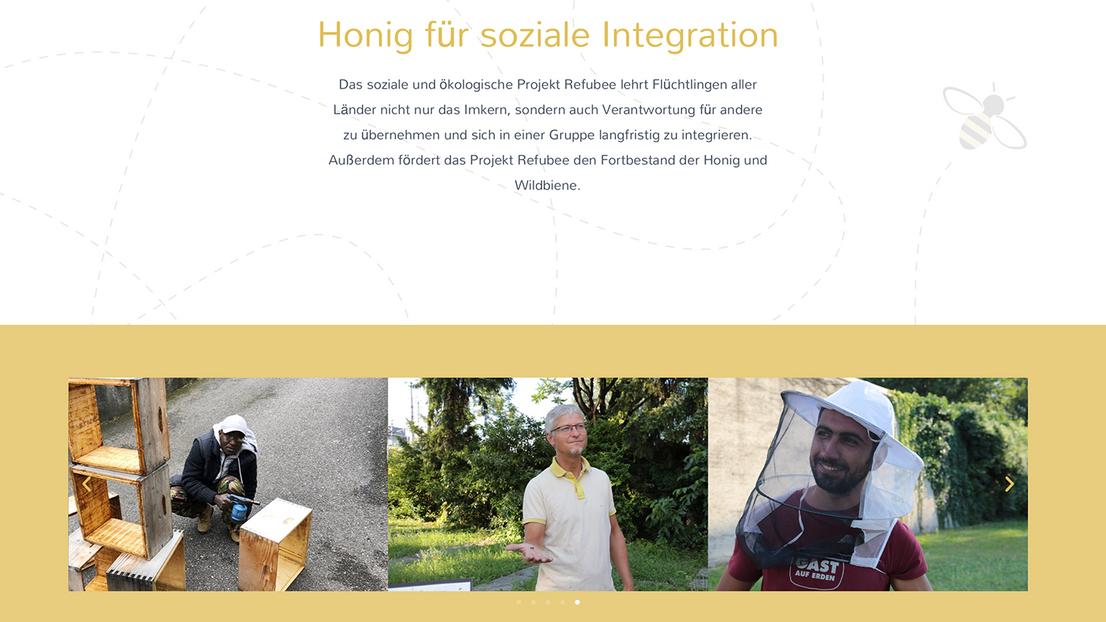 Honig für soziale Imkergration