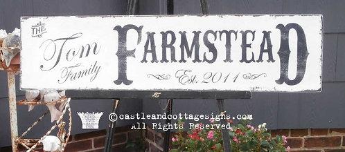 FARMSTEAD ~ CUSTOM NAME & DATE