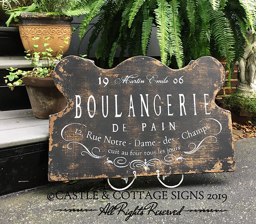 Boulangerie de Pain ~ Hand painted Vintage French Sign