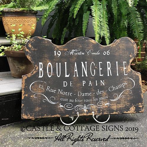 Boulangerie de Pain ~ Hand painted Vintage French Sign