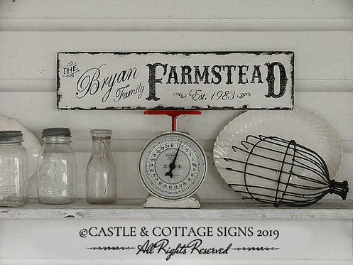 FARMSTEAD FAMILY SIGN small