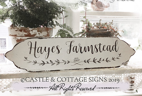 Family Farmstead Sign Custom