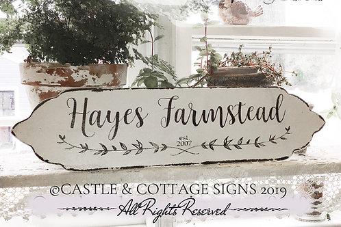 Family Farmstead Sign Custom