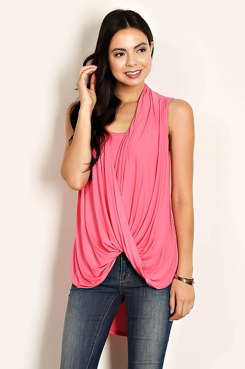SOLID KNIT HI-LO SLEEVLESS TOP