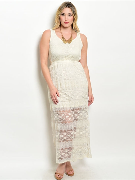 Cream Plus Size Dress