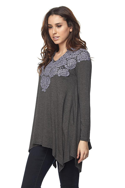 Lace Patch Detailed Tunic