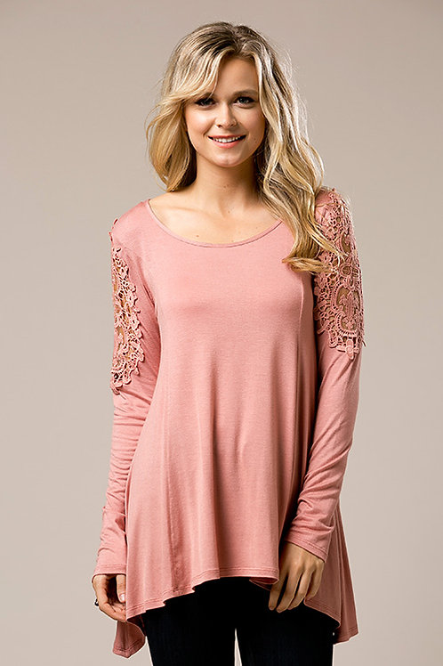 Rose Jersey Knit Tunic