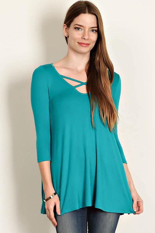 Jade Jersey Knit Top