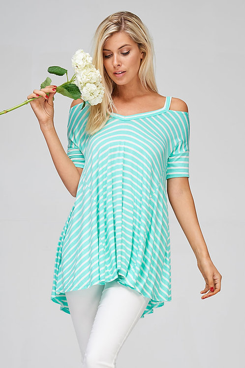 Mint-Loose Fit Jersey Top