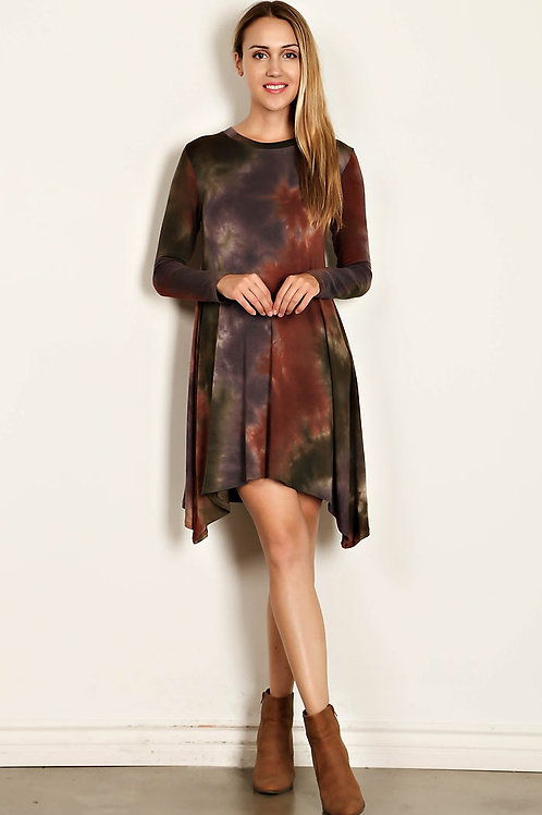 Jersey Knit Scoop Neck Dress