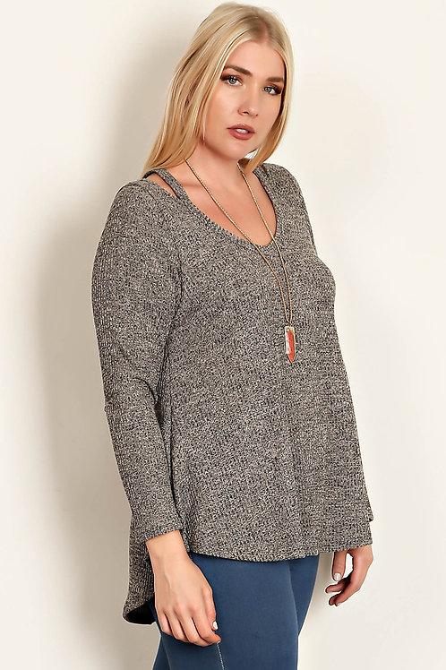Plus Size Heather Knit Top
