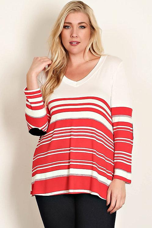 Multi Stripe Jersey Knit Top