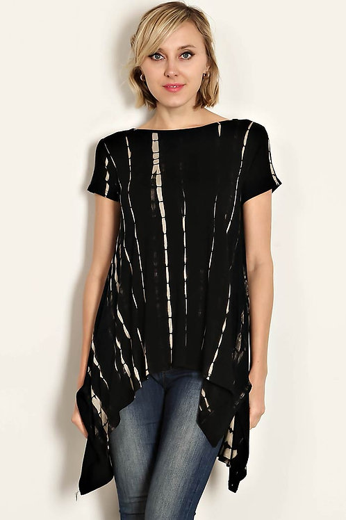 BAMBOO TIE DYED JERSEY KNIT TOP